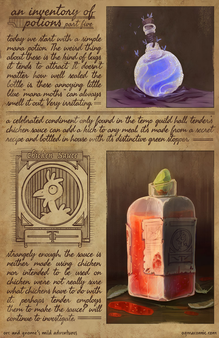 An Inventory of Potions (Part Five)