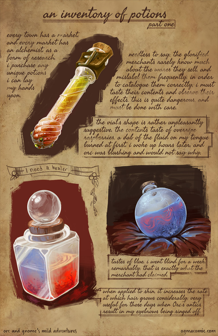 An Inventory of Potions (Part One)