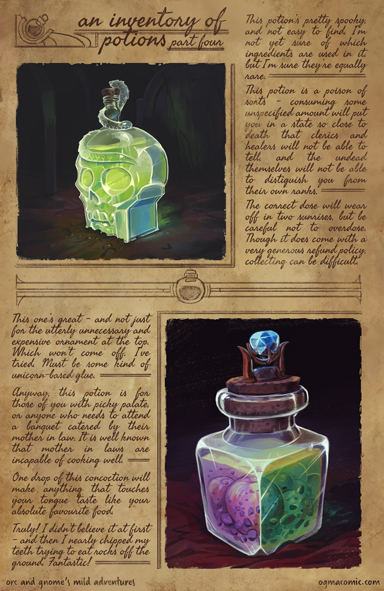 An Inventory of Potions (Part Four)