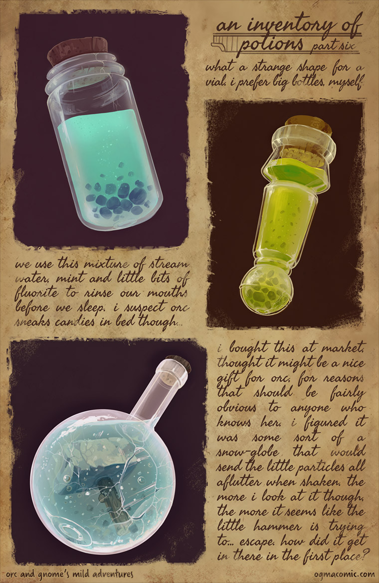 An Inventory of Potions (Part Six)