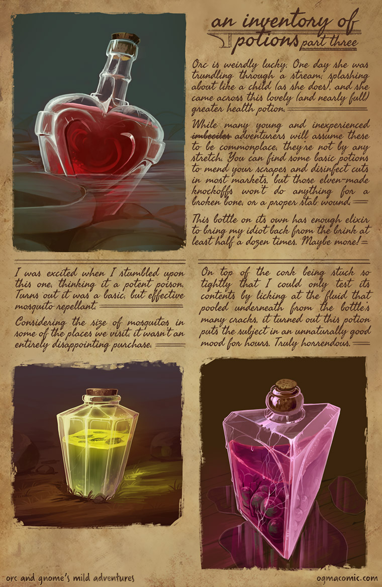 An Inventory of Potions (Part Three)