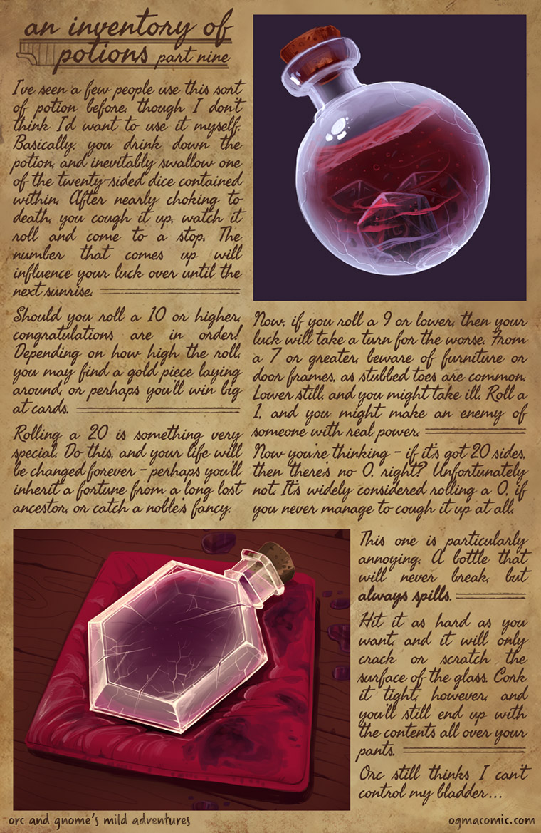 An Inventory of Potions (Part Nine)