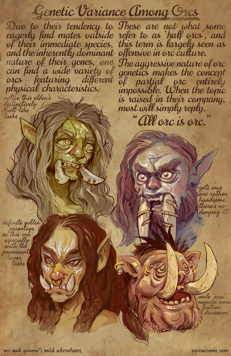 Genetic Variance Among Orcs