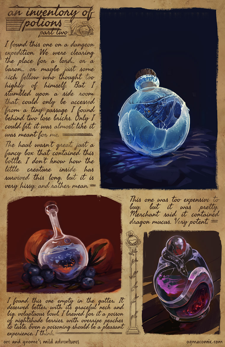An Inventory of Potions (Part Two)