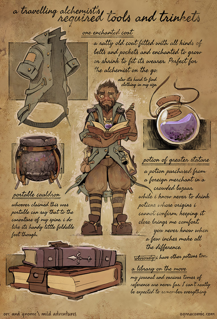 A Travelling Alchemist's Required Tools and Trinkets